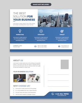 Corporate business post card design