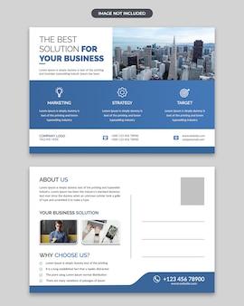 Corporate business post card design