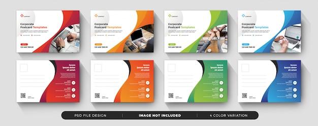 Corporate business postcard elegant design