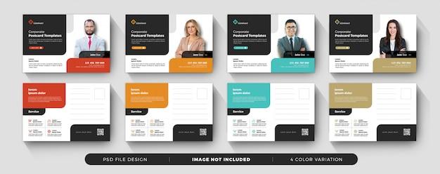 企業のビジネスポストカードミニマルデザイン