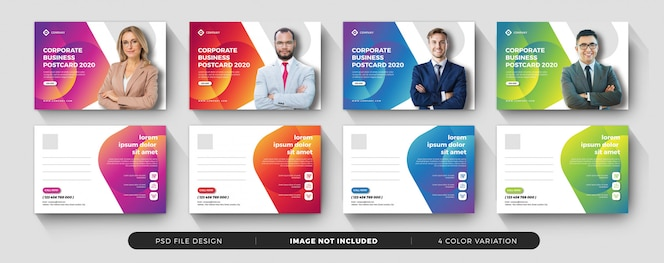 corporate business postcard