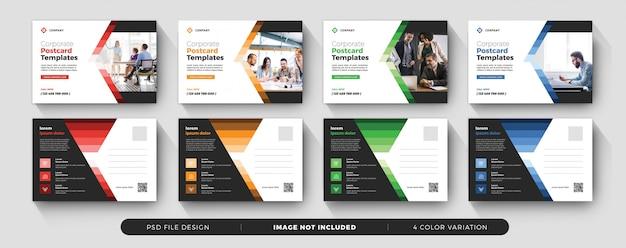 Corporate business potcard Premium Psd