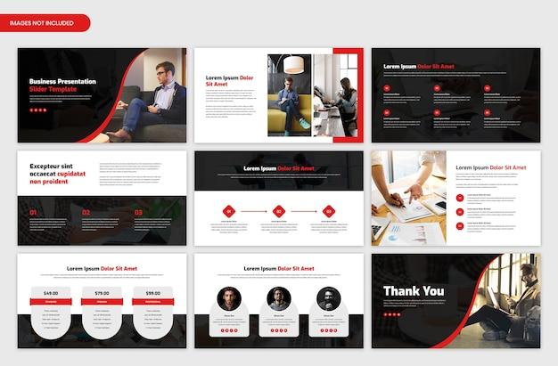 Дизайн шаблона слайдера презентации корпоративного бизнеса и обзора стартап-проекта