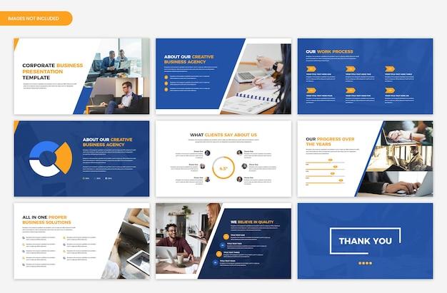 기업 비즈니스 프리젠 테이션 템플릿 디자인 프리미엄 PSD 파일