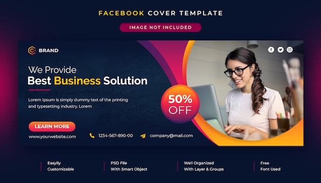 Corporate and business promotion facebook cover template