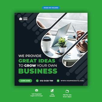 Corporate business promotion social media flyer template