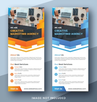Corporate business roll up banner set  template