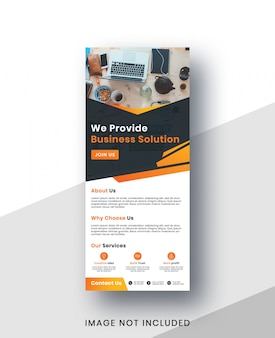Corporate business roll up banner template