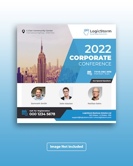 Corporate business square flyer
