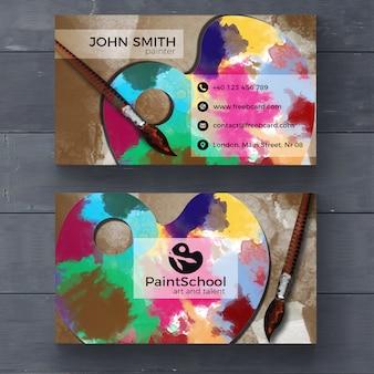 Corporate card for fine arts