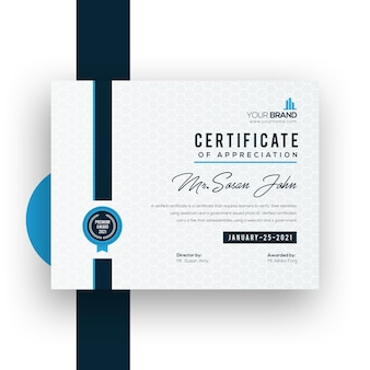 Corporate certificate template design