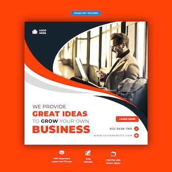 Corporate company promotion social media flyer template
