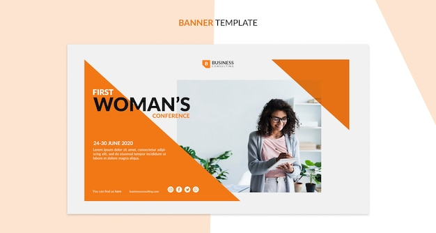 Corporate conference concept for banner template