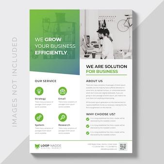 Corporate creative business flyer