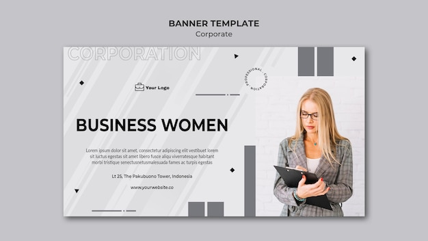 Corporate design banner template