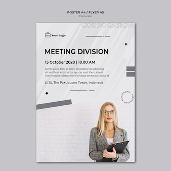 Corporate design flyer template
