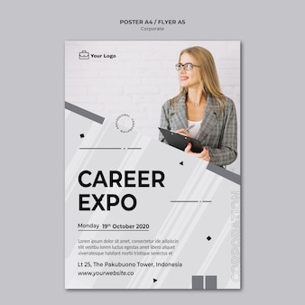 Corporate design poster template