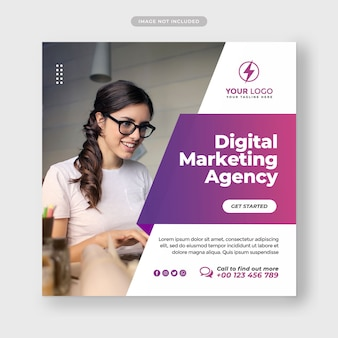 Corporate and digital business marketing promotion social media banner template