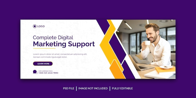 Corporate and digital business marketing promotion social media cover template