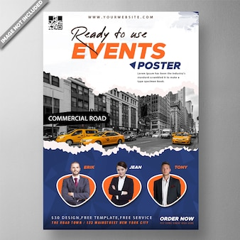 Corporate event poster