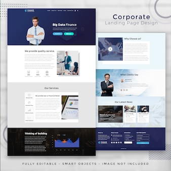 Corporate finance landing page template