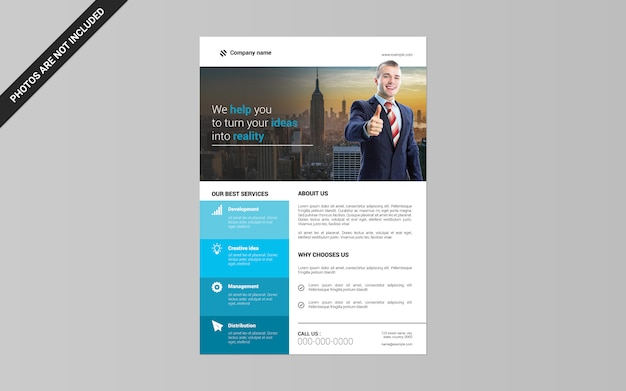 Corporate flyer a4 size