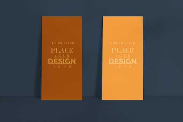 Mockup di design volantino aziendale