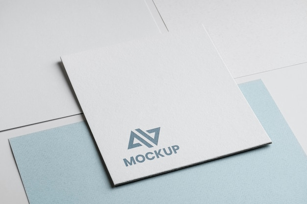 Corporate identity abstract mock-up logo