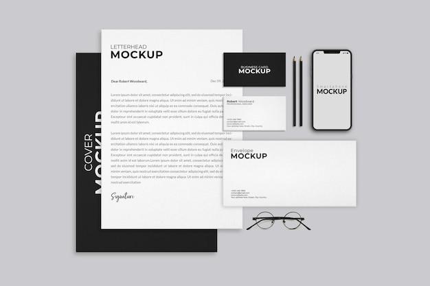 Corporate identity branding mockup design