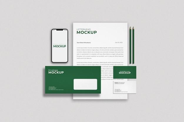 コーポレートアイデンティティブランディングモックアップデザイン