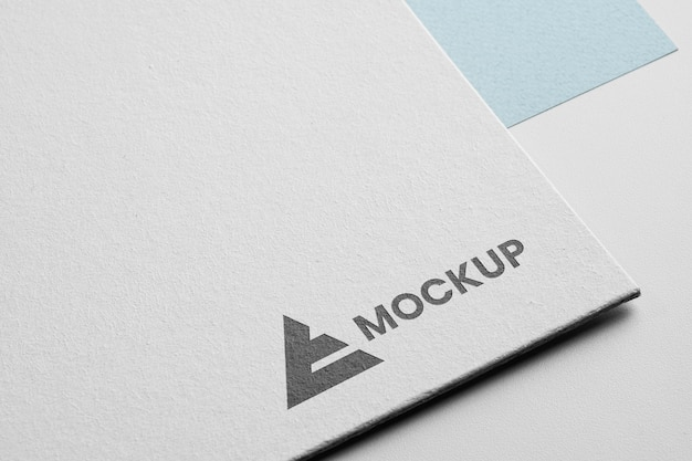 Corporate identity mock-up logo