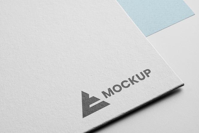 Logo mock-up di identità aziendale
