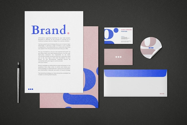 Corporate identity mockup psd set for business enterprise