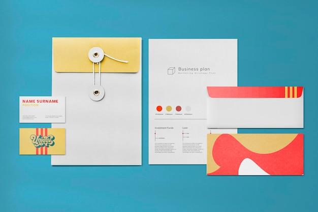 Набор psd макетов фирменного стиля для бизнеса