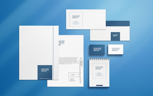 Corporate identity scene creator with movable objects