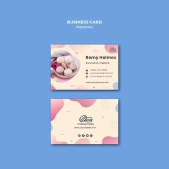 Corporate identity with macarons