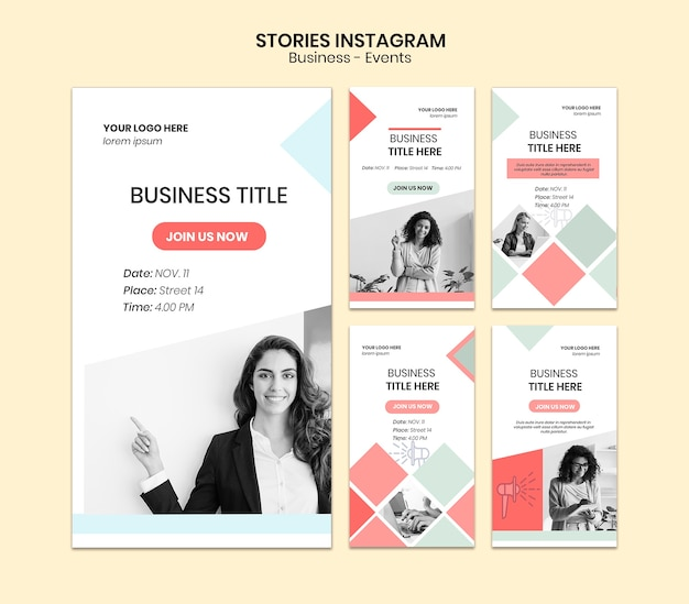 Corporate instagram stories pack