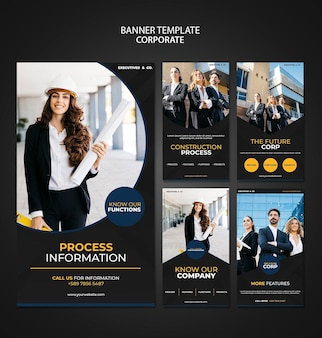 Corporate instagram stories template with photo