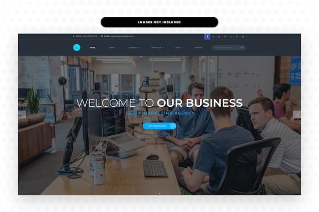 企業のランディングページテンプレート