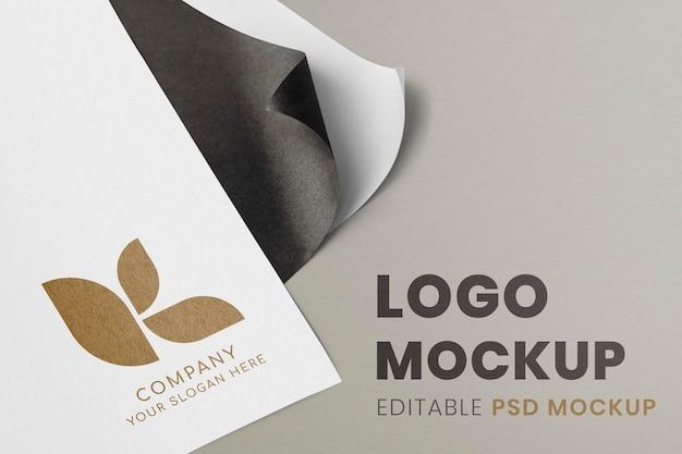 企業ロゴのモックアップ、紙にモダンなプロのpsdデザイン