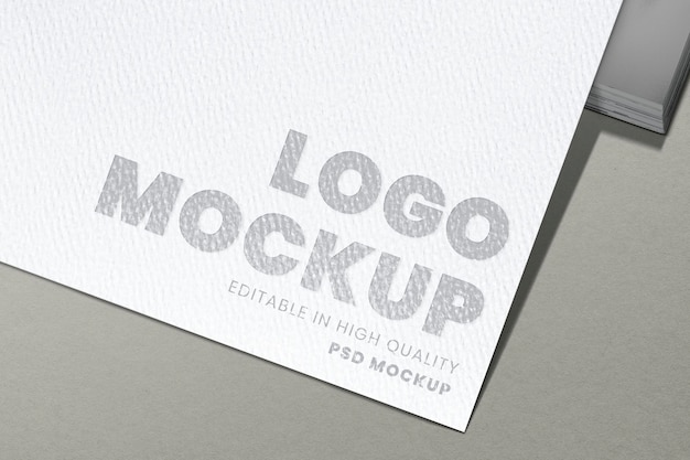 Corporate logo mockup, modern professional psd design on paper