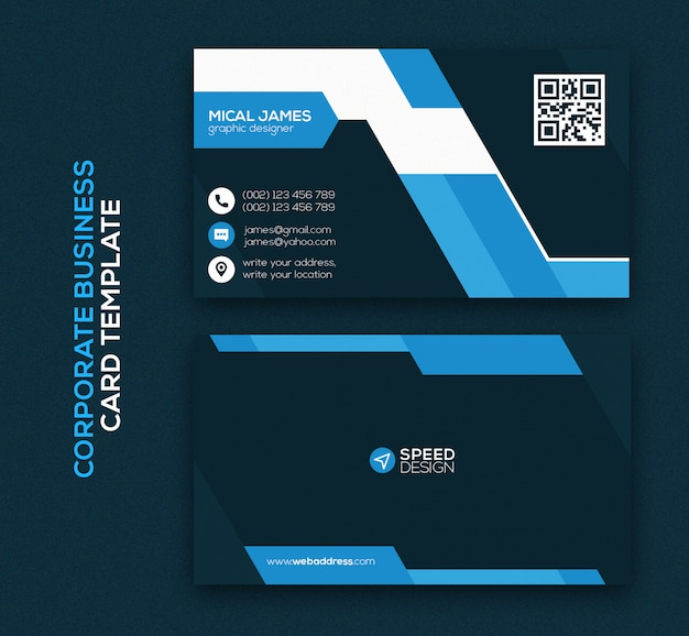 Corporate modern business card template