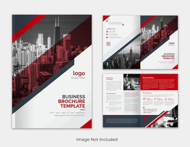 Корпоративный современный многоцелевой минималистичный годовой отчет бизнес-предложение, сложенный в два раза шаблон брошюры