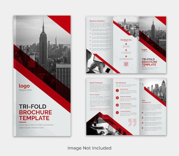 Корпоративный современный шаблон бизнес-брошюры trifold для рекламы с креативной формой