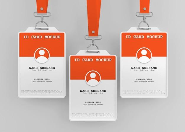 끈이있는 회사 사무실 id 카드 홀더 모형