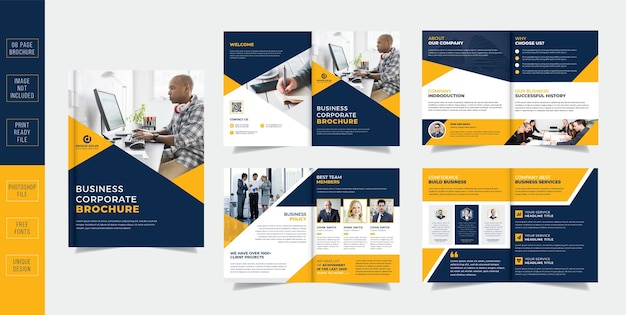 Corporate pages business brochure