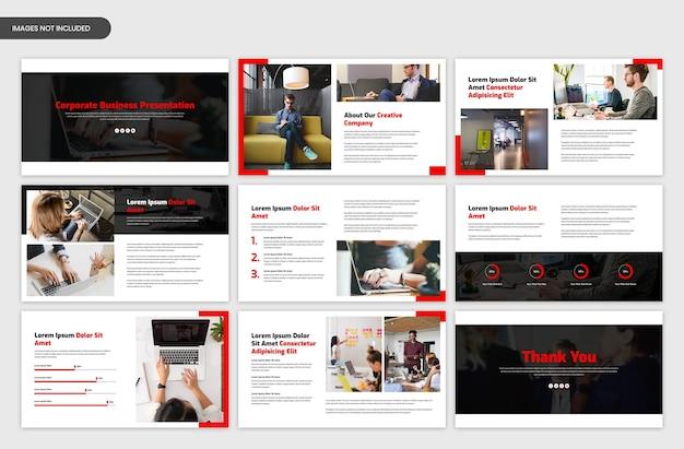 Шаблон слайдера корпоративной презентации