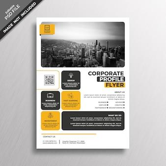 Corporate profile flyer cover mockup