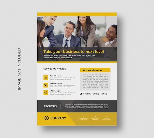 Corporate promotion flyer template design