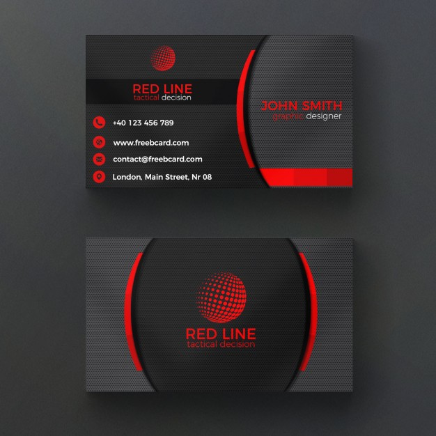 Cards psd 3300 free psd files corporate red and black business card reheart Images